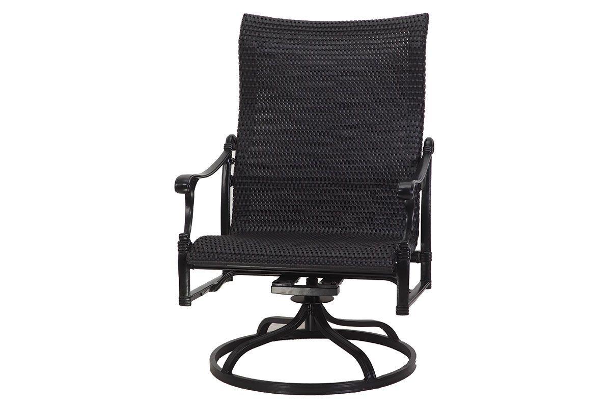 Michigan Woven High Back Swivel Rocking Lounge Chair 70140024 For Woven High Back Swivel Chairs (View 4 of 25)