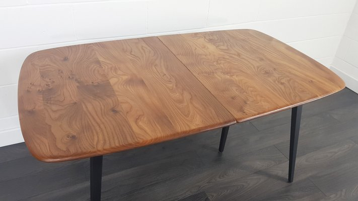 Mid Century Extendable Dining Table With Black Legslucian Ercolani For Ercol, 1960S Throughout Dining Tables With Black U Legs (View 19 of 25)