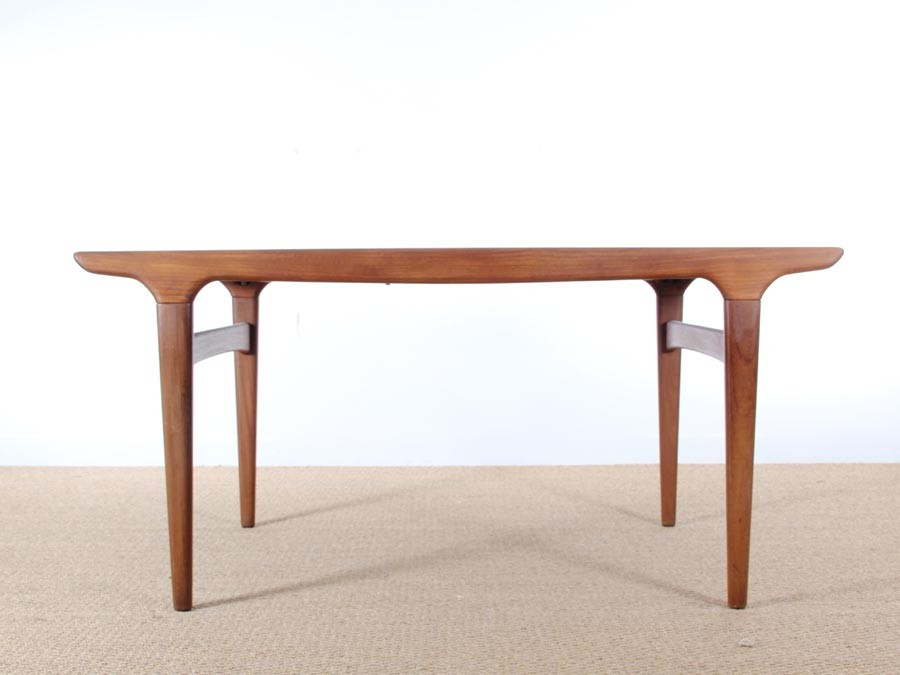 Mid Century Modern Danish Dining Table In Teakjohannes Throughout Contemporary 4 Seating Oblong Dining Tables (View 15 of 25)