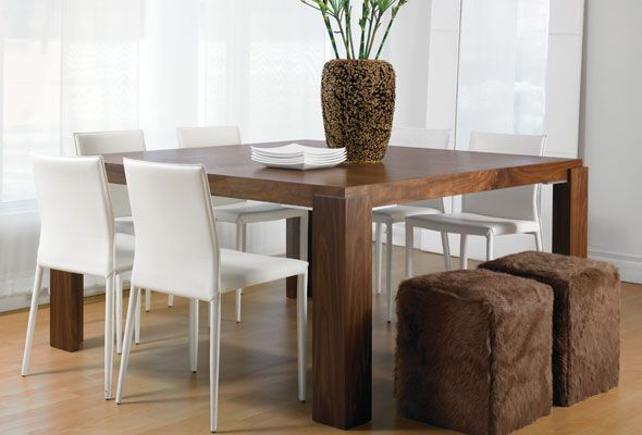 Mistral Table  Natural Walnut Or Stained Ash Wood (Rectangle With Regard To Dining Tables With Stained Ash Walnut (Image 19 of 25)