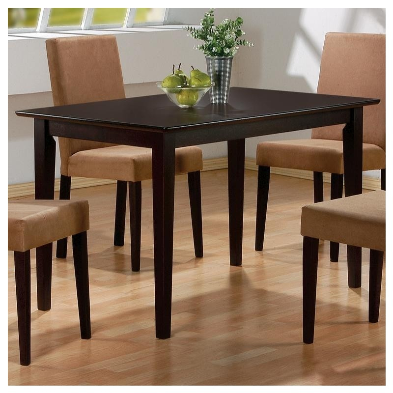 Mix & Match Rectangular Casual Dining Leg Tablecoaster In Coaster Contemporary 6 Seating Rectangular Casual Dining Tables (View 12 of 25)