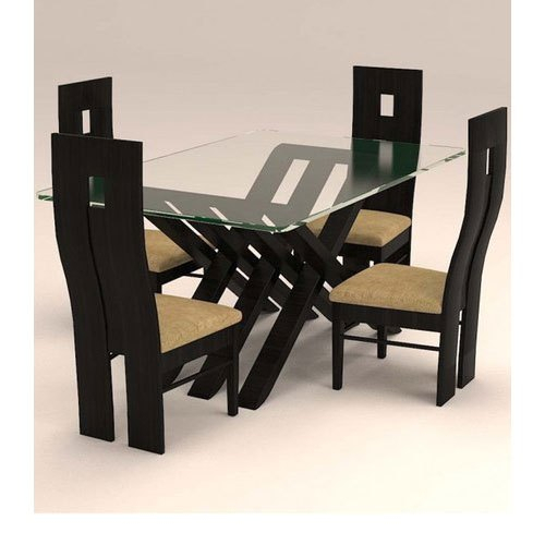 Modern 4 Seater Dining Table Set With Regard To Contemporary 4 Seating Oblong Dining Tables (View 9 of 25)