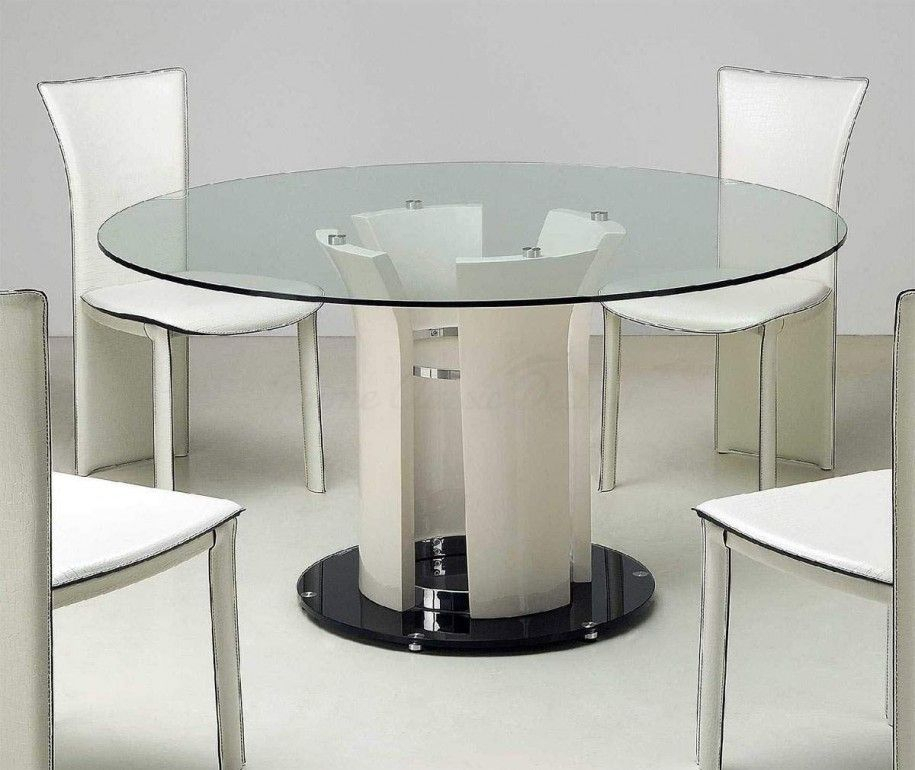 Featured Image of Modern Round Glass Top Dining Tables