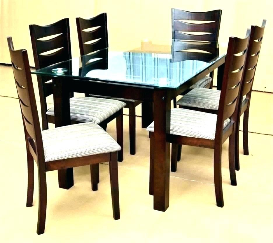 Modern Deluxe Dining Furniture Set Glass Room Table Top Throughout Smoked Oval Glasstop Dining Tables (View 10 of 25)