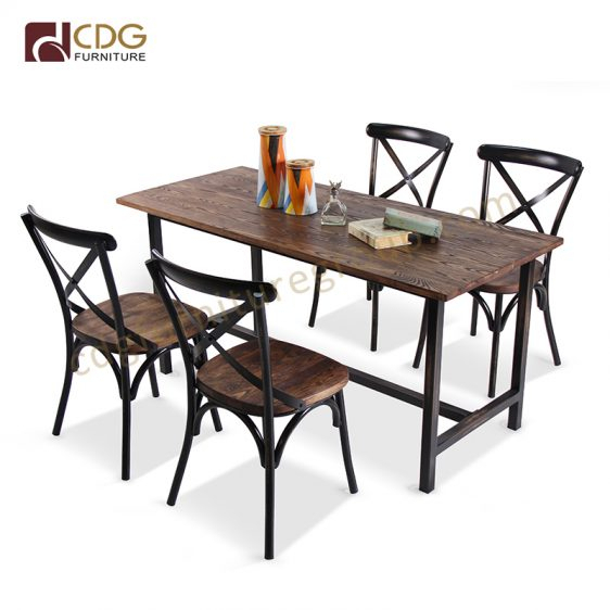Modern Design Hand Made Antique Finish Industrial Restaurant For 6 Seater Retangular Wood Contemporary Dining Tables (View 22 of 25)