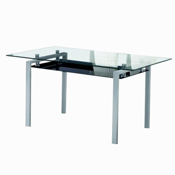 Modern Design Metal Frame Dining Table With Glass Inlay On Table Top – Buy Metal Frame Dining Table,dining Table With Glass,table With Glass Inlay On Within Steel And Glass Rectangle Dining Tables (View 5 of 25)