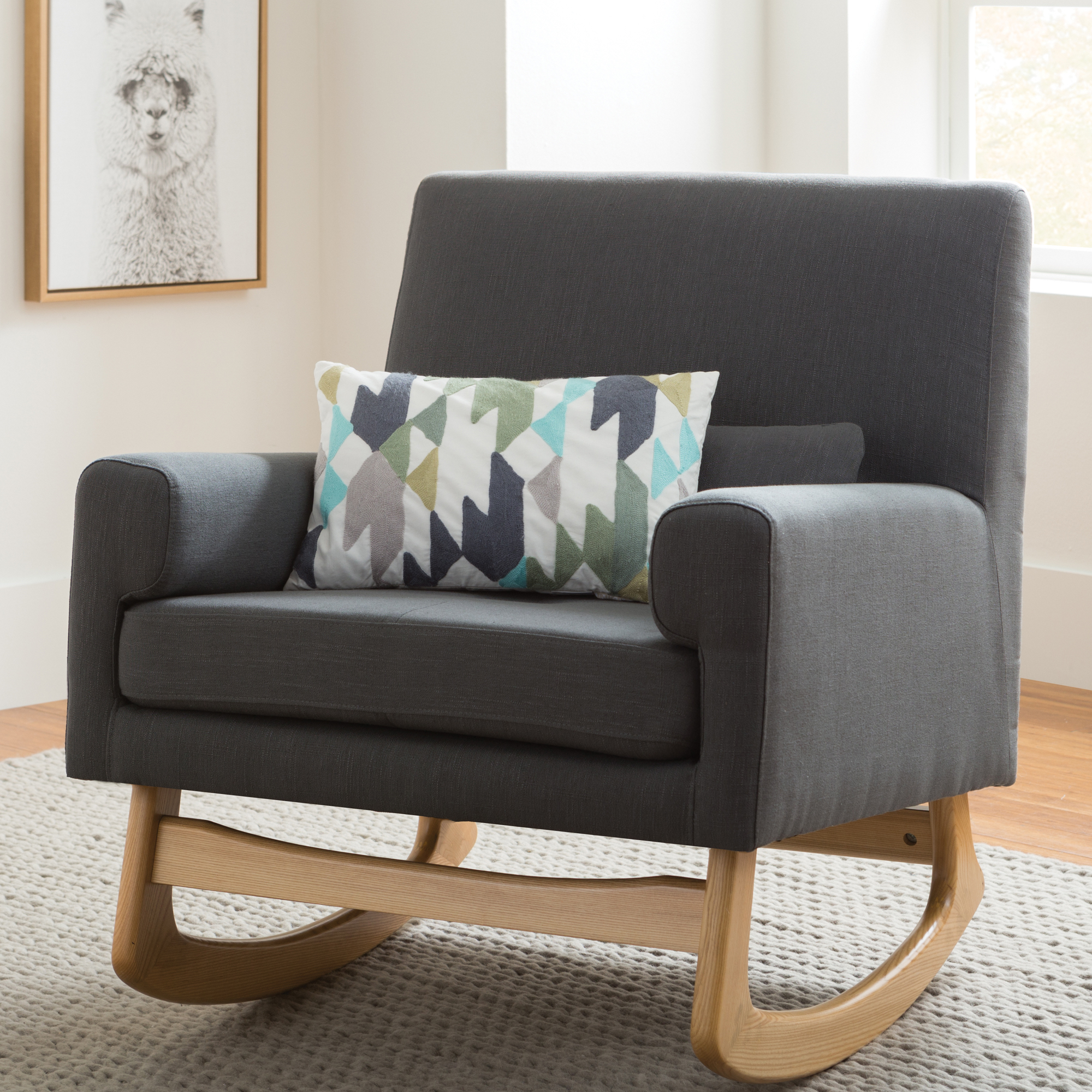 Modern Gliders + Rocking Chairs | Allmodern For Rocking Love Seats Glider Swing Benches With Sturdy Frame (View 11 of 25)