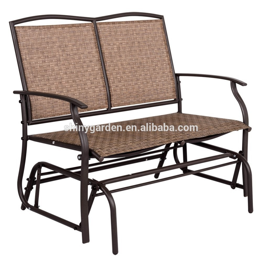 Modern Outdoor 2 Person Loveseat Glider Bench Double Chair,patio Porch Swing Designs With Rocker Chair – Buy Double Chair Swing,modern Outdoor Patio In 2 Person Loveseat Chair Patio Porch Swings With Rocker (View 3 of 25)