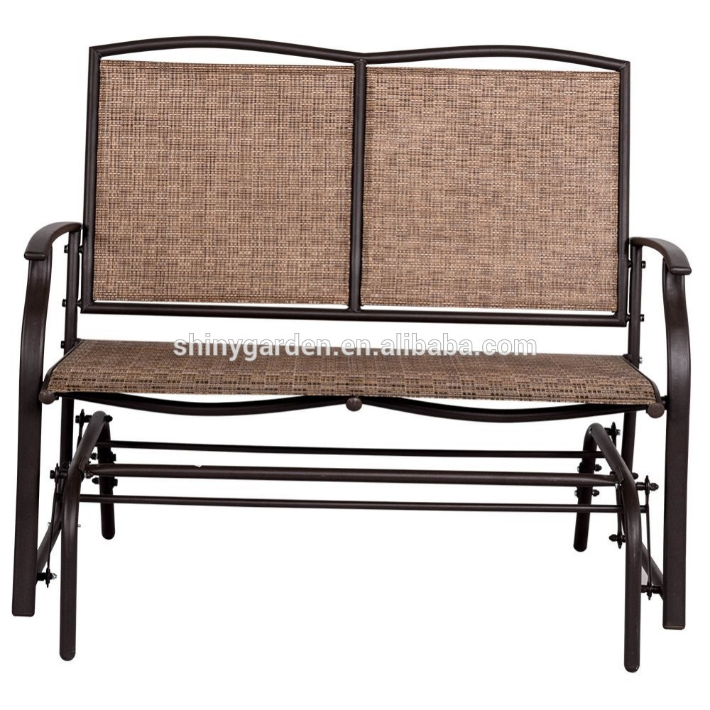 Modern Outdoor 2 Person Loveseat Glider Bench Double Chair,patio Porch Swing Designs With Rocker Chair – Buy Double Chair Swing,modern Outdoor Patio Inside 2 Person Loveseat Chair Patio Porch Swings With Rocker (View 13 of 25)