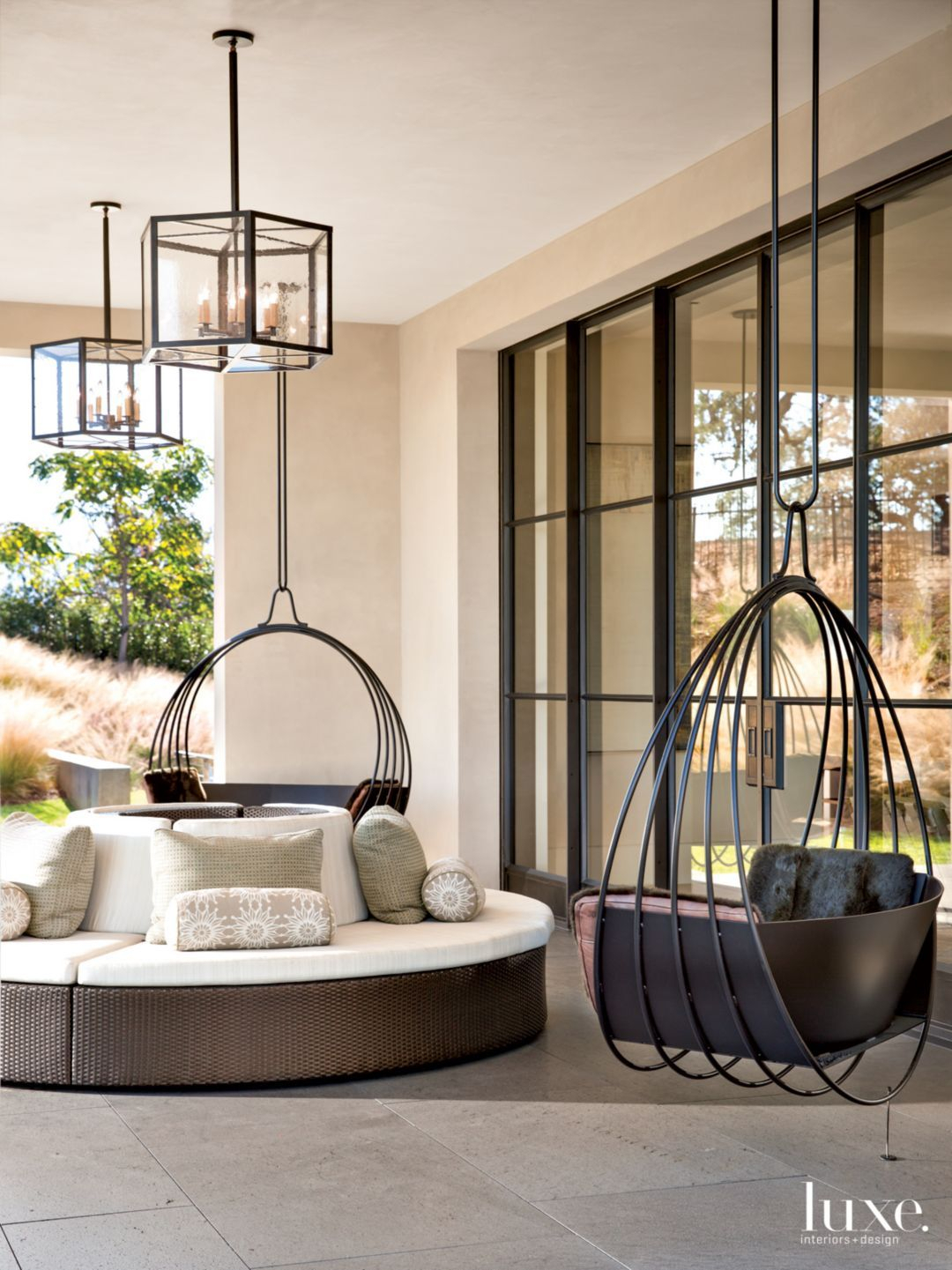 Modern Outdoor Seating From Top Like Seats That Twirl Around Intended For Lamp Outdoor Porch Swings (Photo 2 of 25)