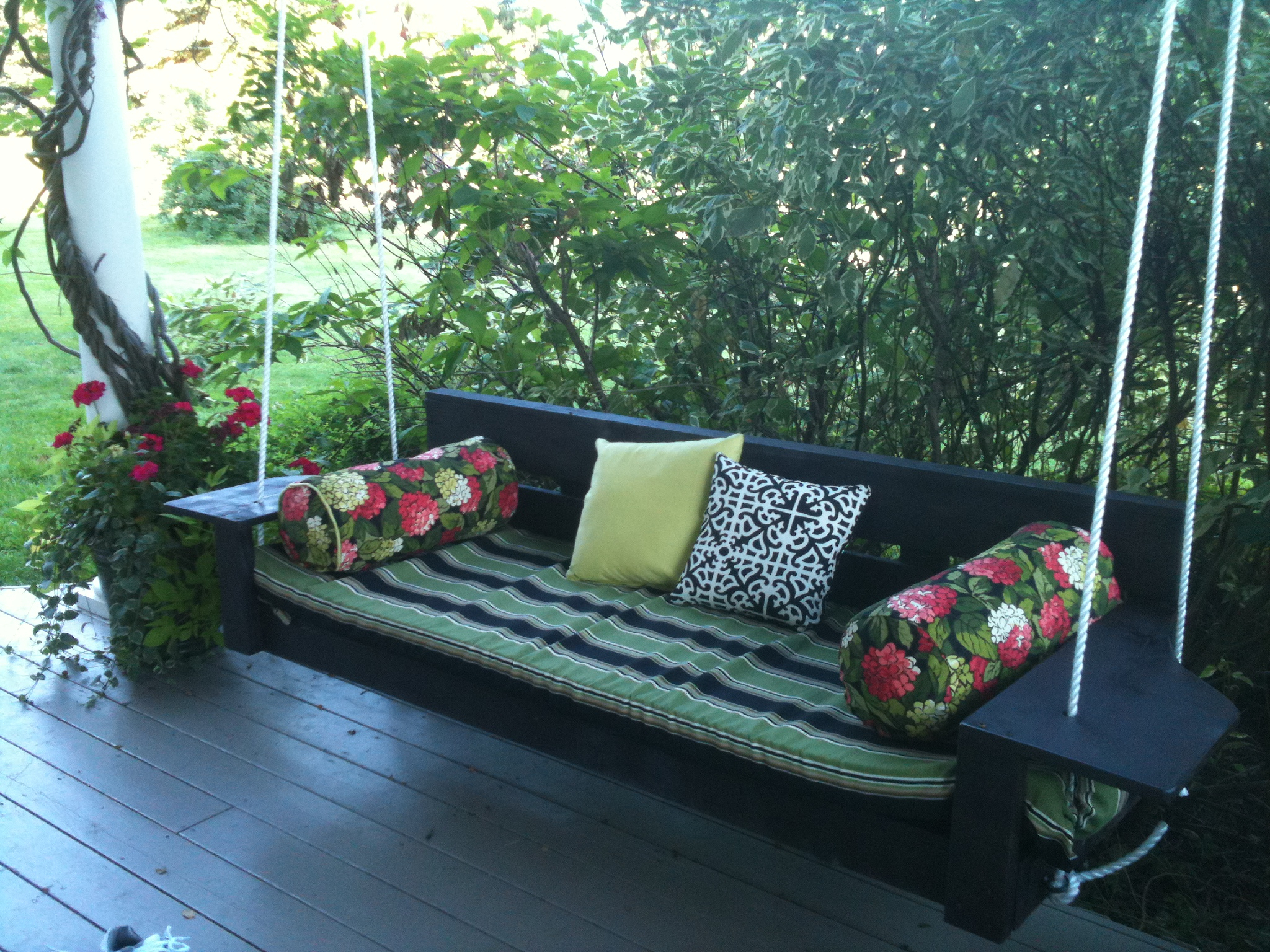 Modern Oversized Porch Swing | Ana White Throughout Hanging Daybed Rope Porch Swings (Image 18 of 25)