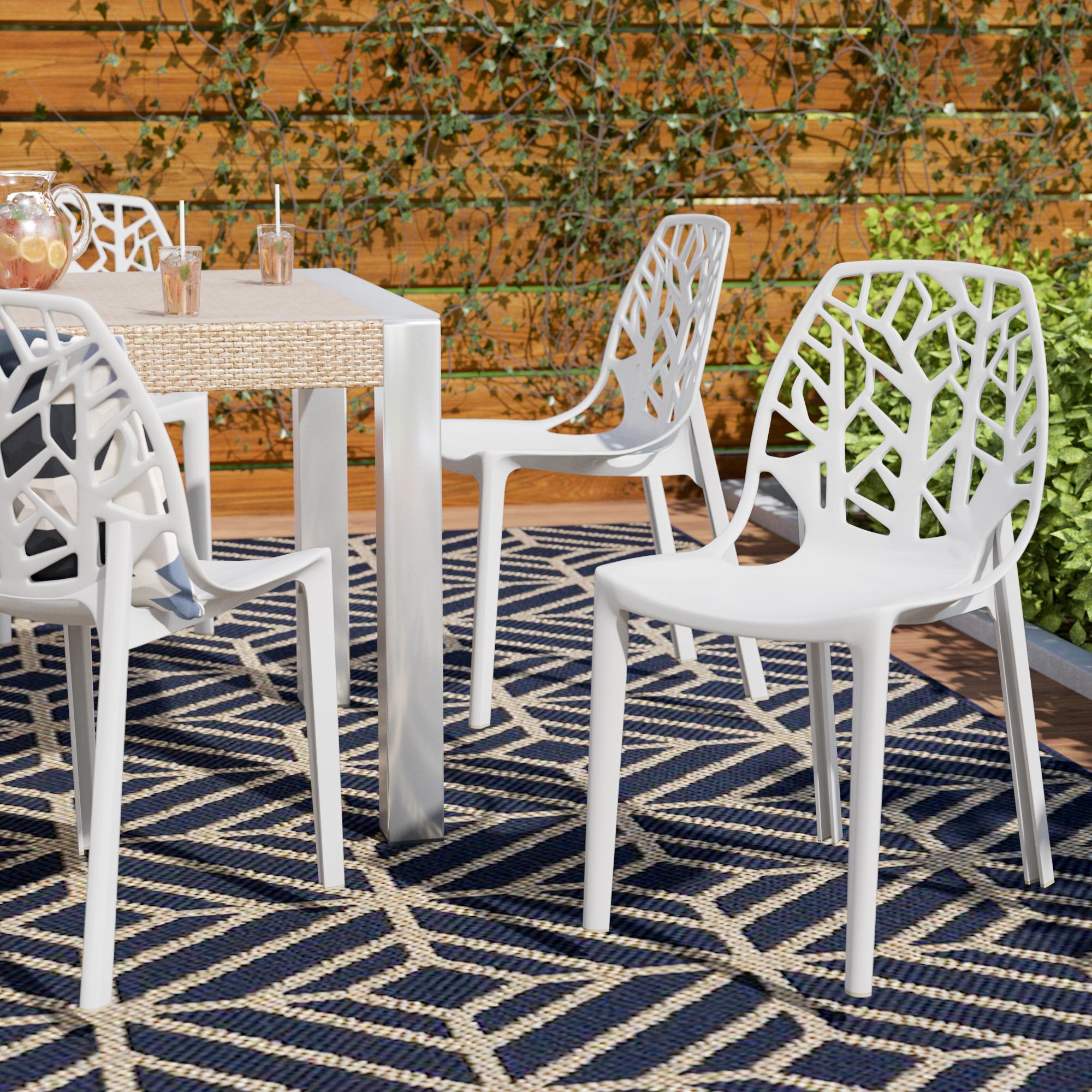 Modern Plastic Outdoor Furniture | Allmodern In Outdoor Wicker Plastic Half Moon Leaf Shape Porch Swings (View 18 of 25)