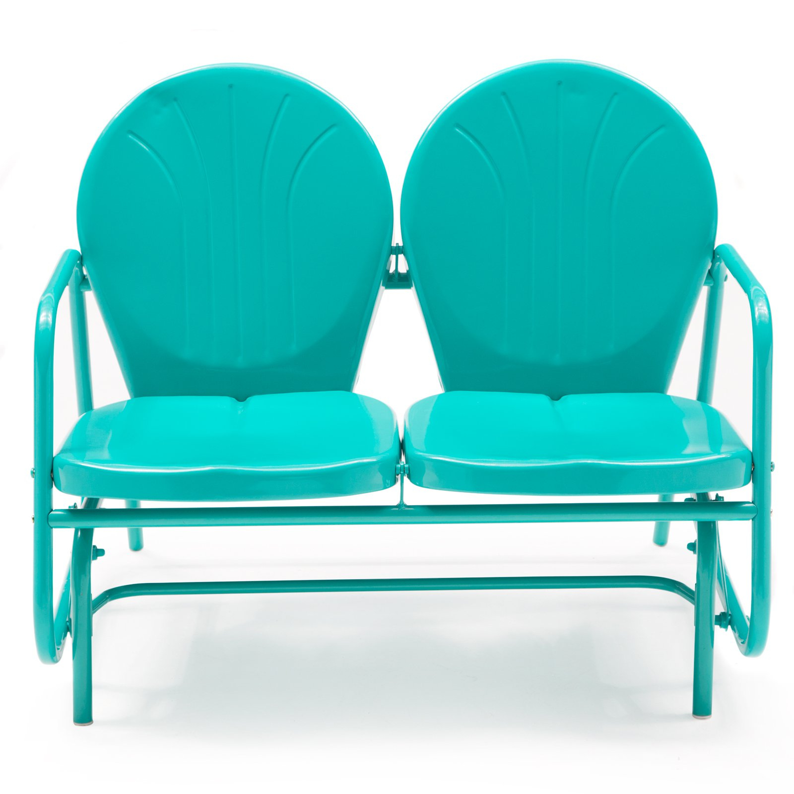Modern Retro Metal Outdoor Furniture Vintage For Sale Inside Outdoor Retro Metal Double Glider Benches (View 9 of 25)