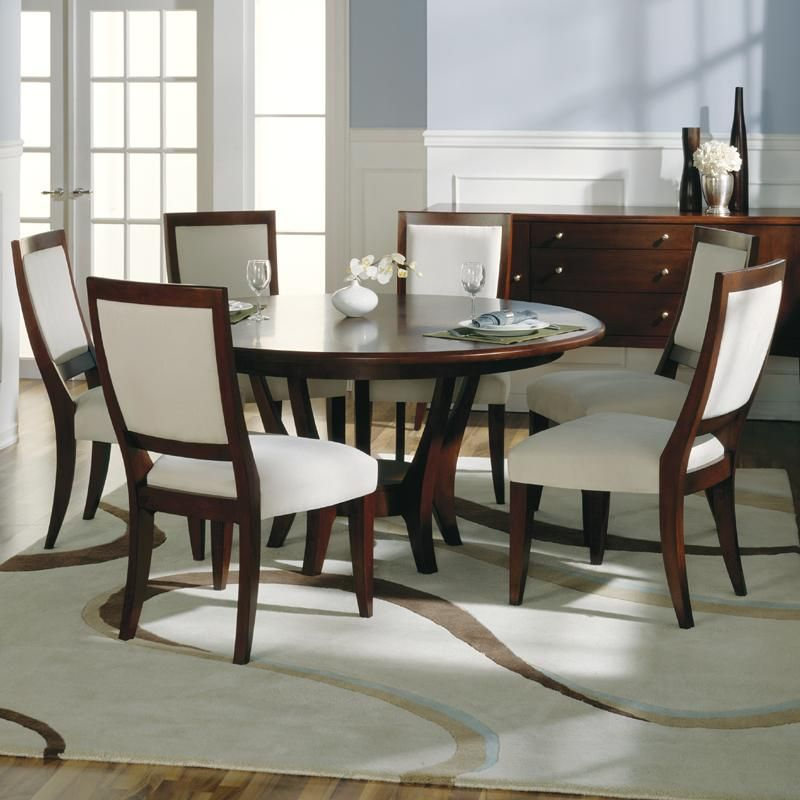 Modern Round Dining Room Tables For 6 Sherbrook Round Dining With Transitional 6 Seating Casual Dining Tables (Image 19 of 25)