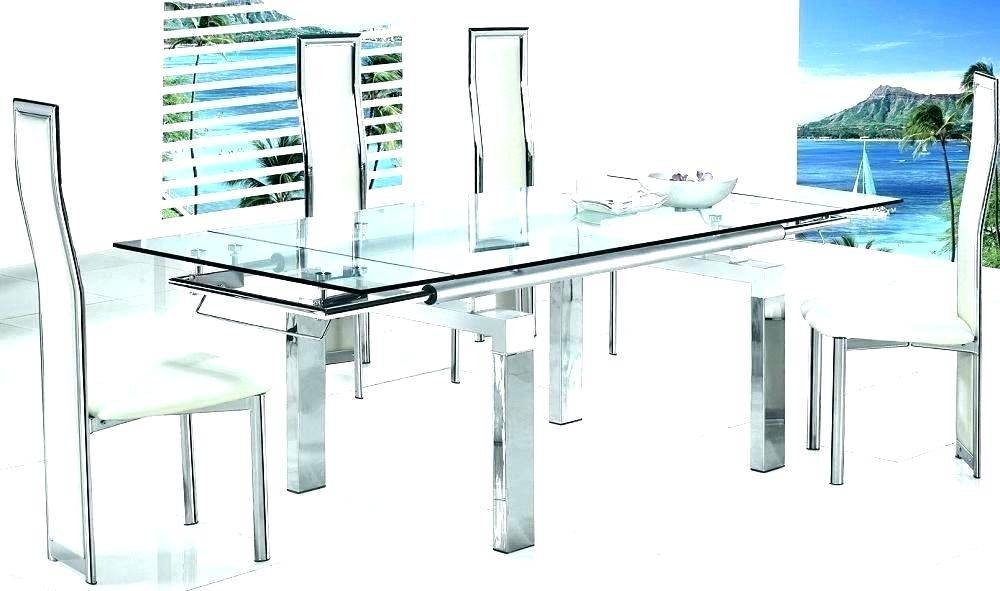 Modern Round Glass Dining Table Set And Chairs Mid Century Inside Modern Round Glass Top Dining Tables (Image 14 of 25)