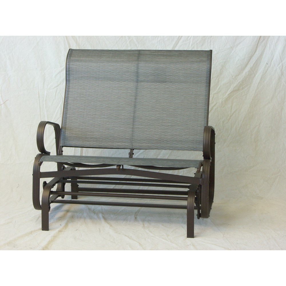 Monaco Aluminum Double Glider Kd – Dura Housewares Inside Aluminum Outdoor Double Glider Benches (View 21 of 25)