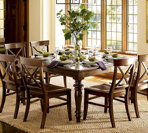 Montego Turned Leg Extending Square Table – Pottery Barn With Transitional 4 Seating Square Casual Dining Tables (Photo 13 of 25)