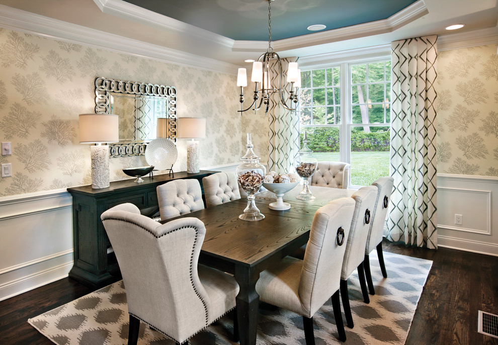 Nailhead Dining Chairs Dining Room Transitional With Inside Transitional Rectangular Dining Tables (View 12 of 25)