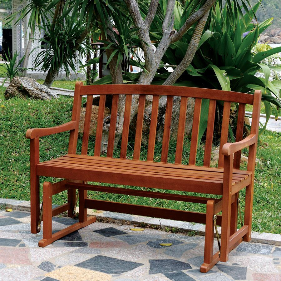 Natural Acacia Glider Bench | Home & Garden | Outdoor Glider Intended For Classic Glider Benches (View 23 of 25)