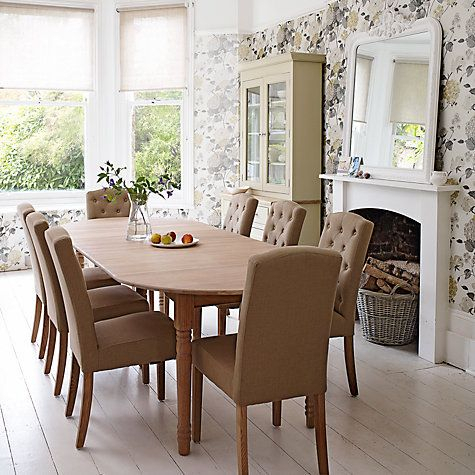 Neptune Sheldrake Upholstered Dining Chair, Millet | Oak Inside 8 Seater Wood Contemporary Dining Tables With Extension Leaf (View 4 of 25)