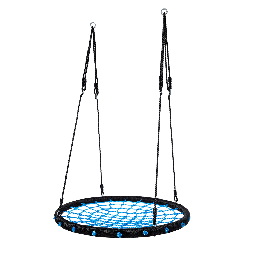 Nest Swing 100 Cm Childrens Round Plate Swing Mesh Swing Regarding Nest Swings With Adjustable Ropes (View 19 of 25)