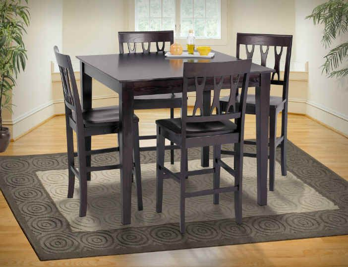 New Classic Abbie 5 Piece Dining Room Set In Espresso Finish Pertaining To Espresso Finish Wood Classic Design Dining Tables (Image 16 of 25)