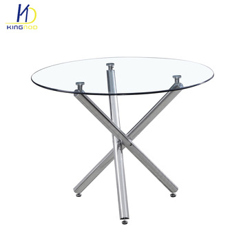 New Design Modern Round Shape Tempered Glass Top Dining Table – Buy Dining  Table,glass Table,new Design Dining Tables Product On Alibaba With Modern Round Glass Top Dining Tables (Image 18 of 25)