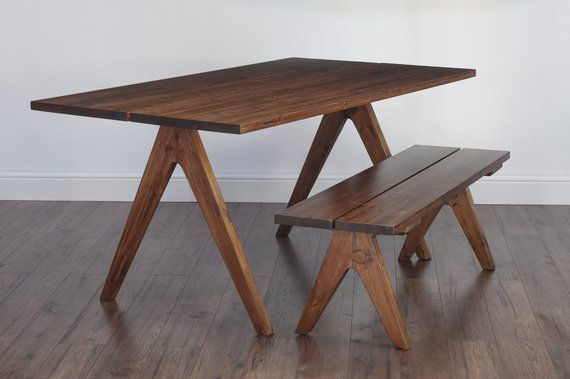New Rustic Split Top Trestle Style Dining / Kitchen Table For Medium Elegant Dining Tables (View 23 of 25)