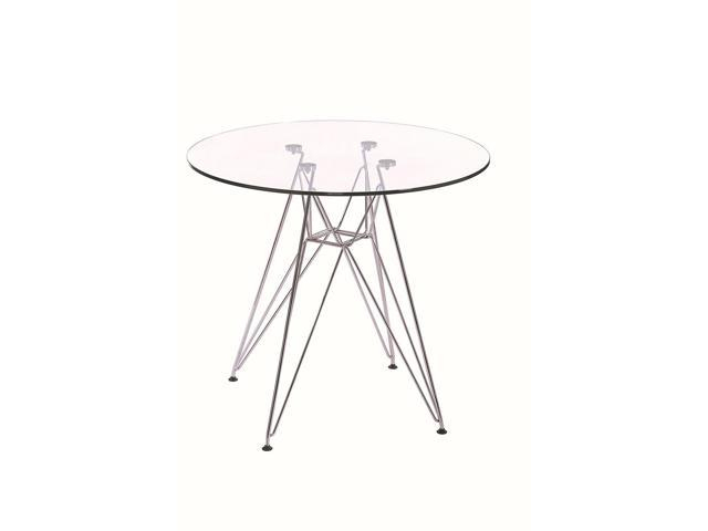 Featured Image of Eames Style Dining Tables With Chromed Leg And Tempered Glass Top