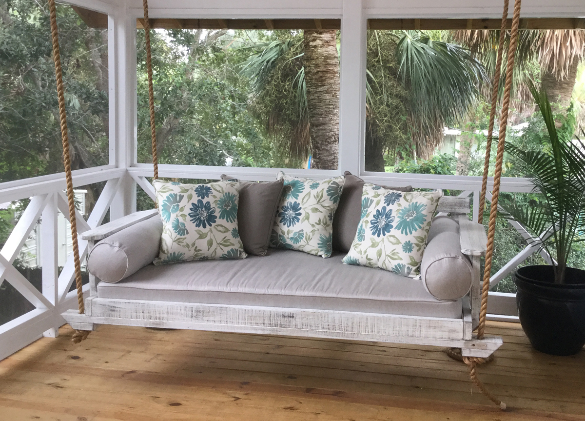 Noah Porch Swing In Four Sizes For Sale – Cottage & Bungalow With Nautical Porch Swings (View 18 of 25)