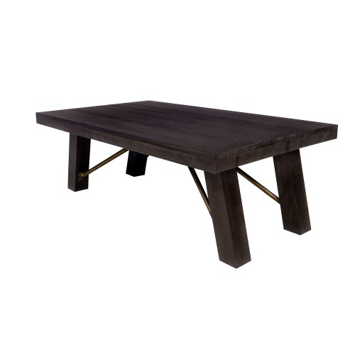 Nomad Coffee Table – Rustic Pine/ Ash Brown Finish 55*32*19 For Small Dining Tables With Rustic Pine Ash Brown Finish (View 2 of 25)