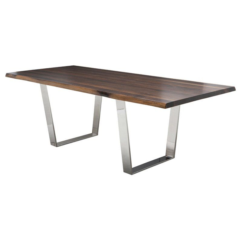 Nuevo Versaille Dining Table – Seared Oak | Tables For Dining Tables In Smoked/seared Oak (Image 15 of 26)