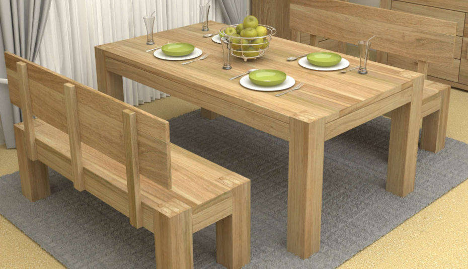 Oak Funky Retro Dining Table Seats Furniture Rustic Room Regarding Chrome Contemporary Square Casual Dining Tables (View 18 of 25)