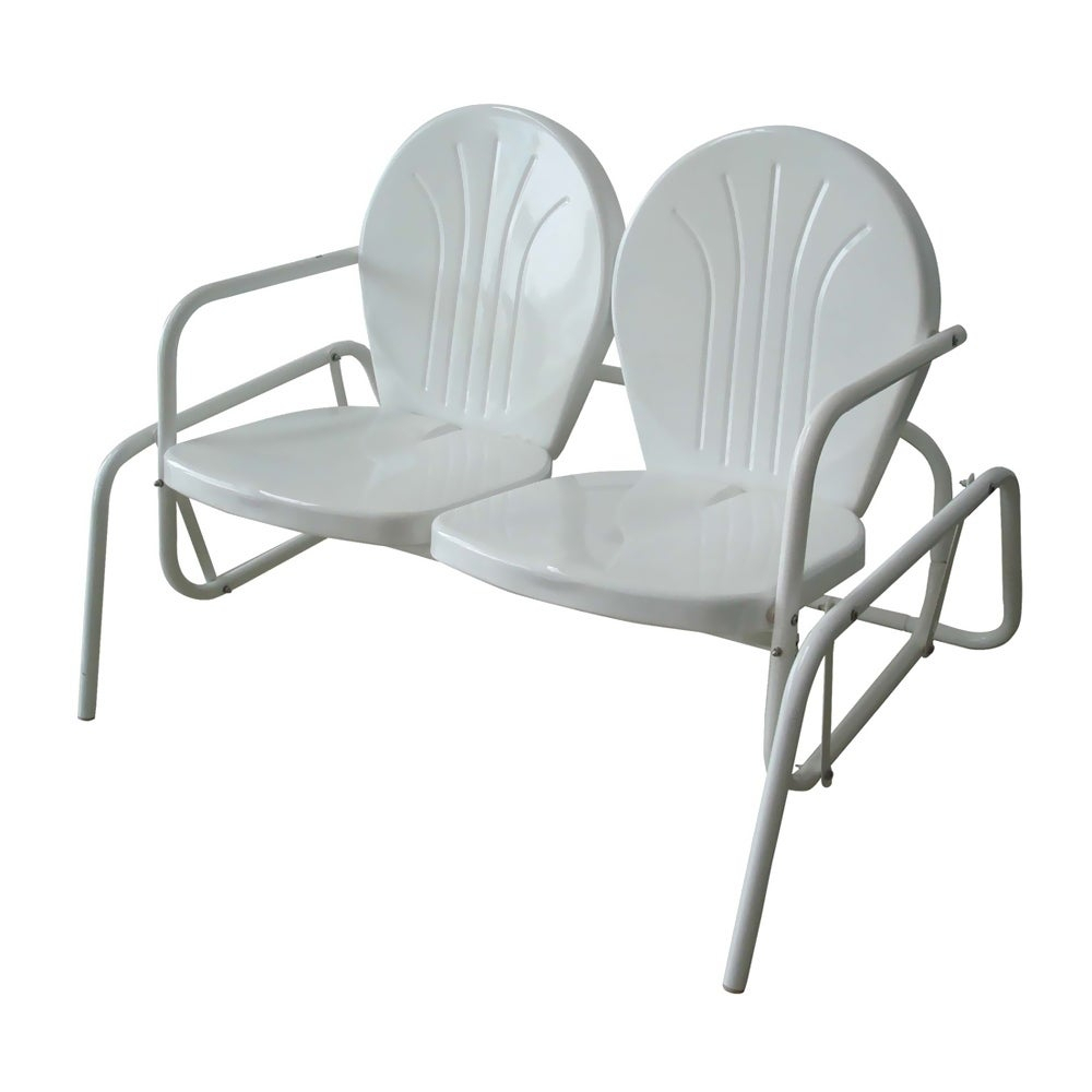 Featured Image of Metal Powder Coat Double Seat Glider Benches