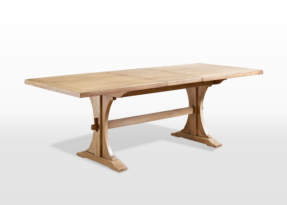 Old Charm 6Ft Lichfield Dining Table In Fumed Oak Dining Tables (View 13 of 25)