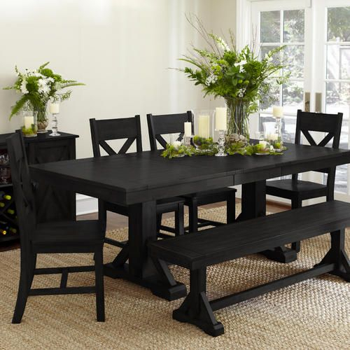 Featured Image of Antique Black Wood Kitchen Dining Tables