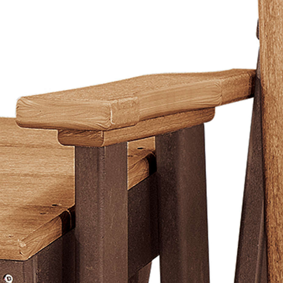 One Size Os Home And Office 515Ctb K Double Glider Cedar With 2 Person Natural Cedar Wood Outdoor Gliders (View 14 of 25)