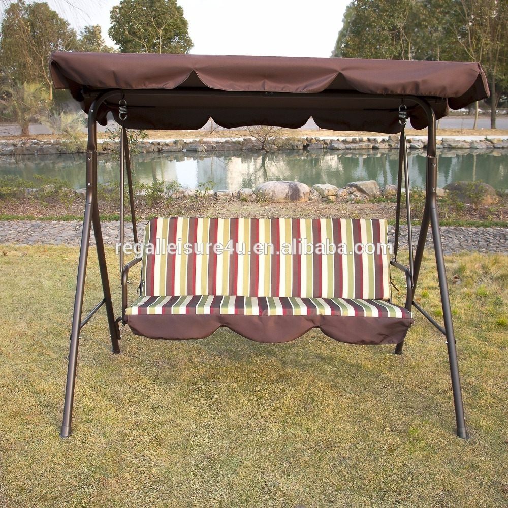 Outdoor 3 Person Patio Cushioned Porch Swing Swg 000111 – Buy 3 Person Swing With Canopy,canopy Patio Swings,patio Swing With Canopy Product On Regarding Porch Swings With Canopy (View 10 of 25)
