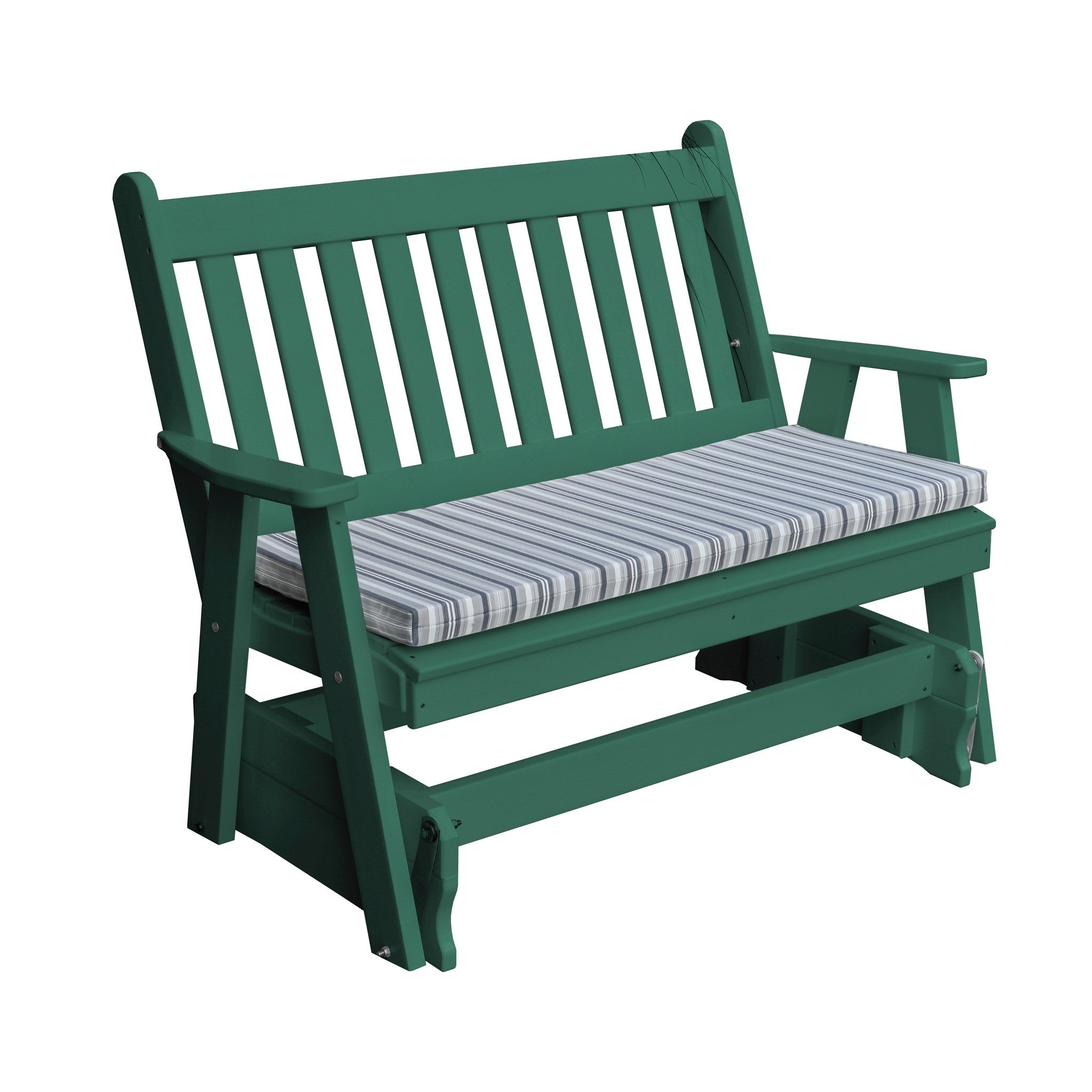 Outdoor 5 Foot Glider In Traditional English Style – Recycled Plastic With Traditional English Glider Benches (View 3 of 25)