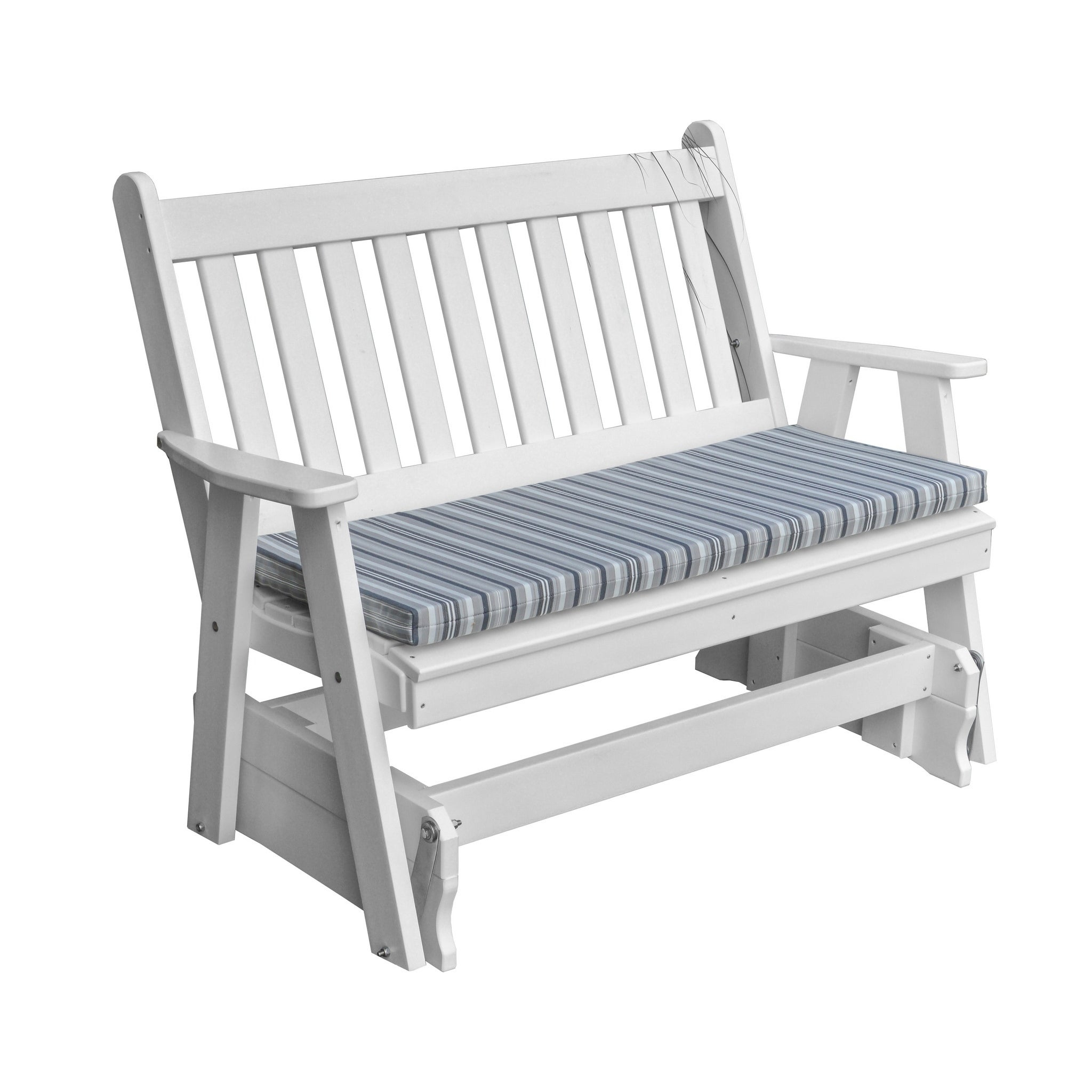 Outdoor 5 Foot Glider In Traditional English Style – Recycled Plastic Within Traditional English Glider Benches (View 6 of 25)