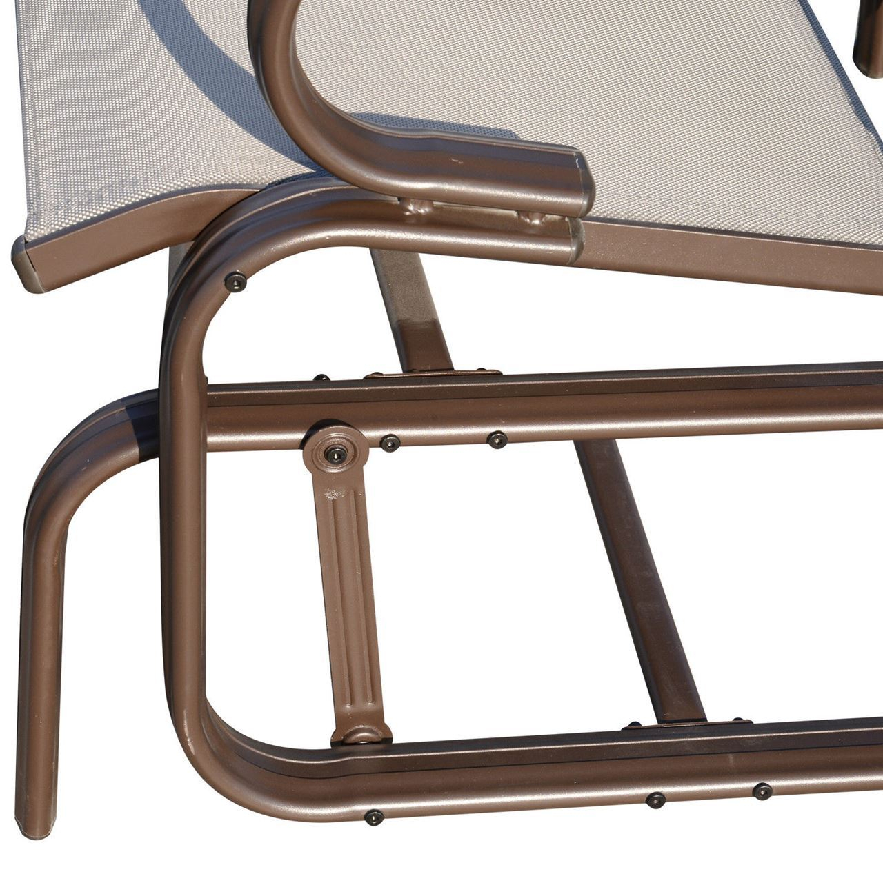 Outdoor Aluminum Double Glider Rocking Bench Swing Inside Aluminum Outdoor Double Glider Benches (View 23 of 25)