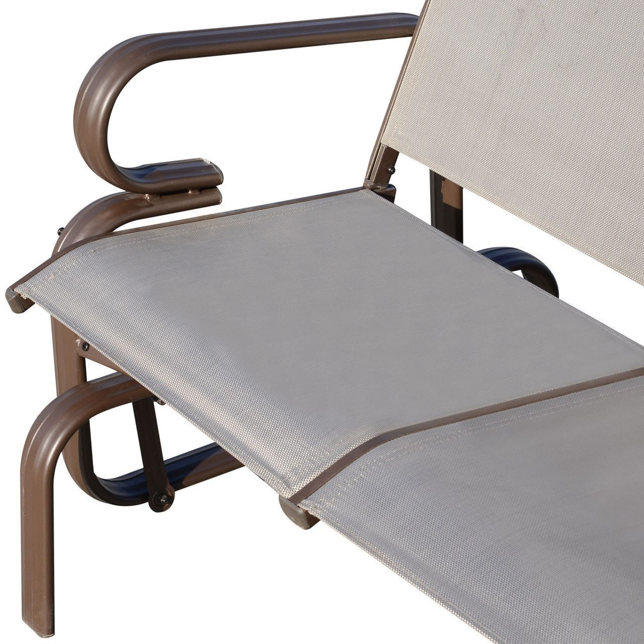 Outdoor Aluminum Double Glider Rocking Bench Swing Within Aluminum Outdoor Double Glider Benches (View 12 of 25)