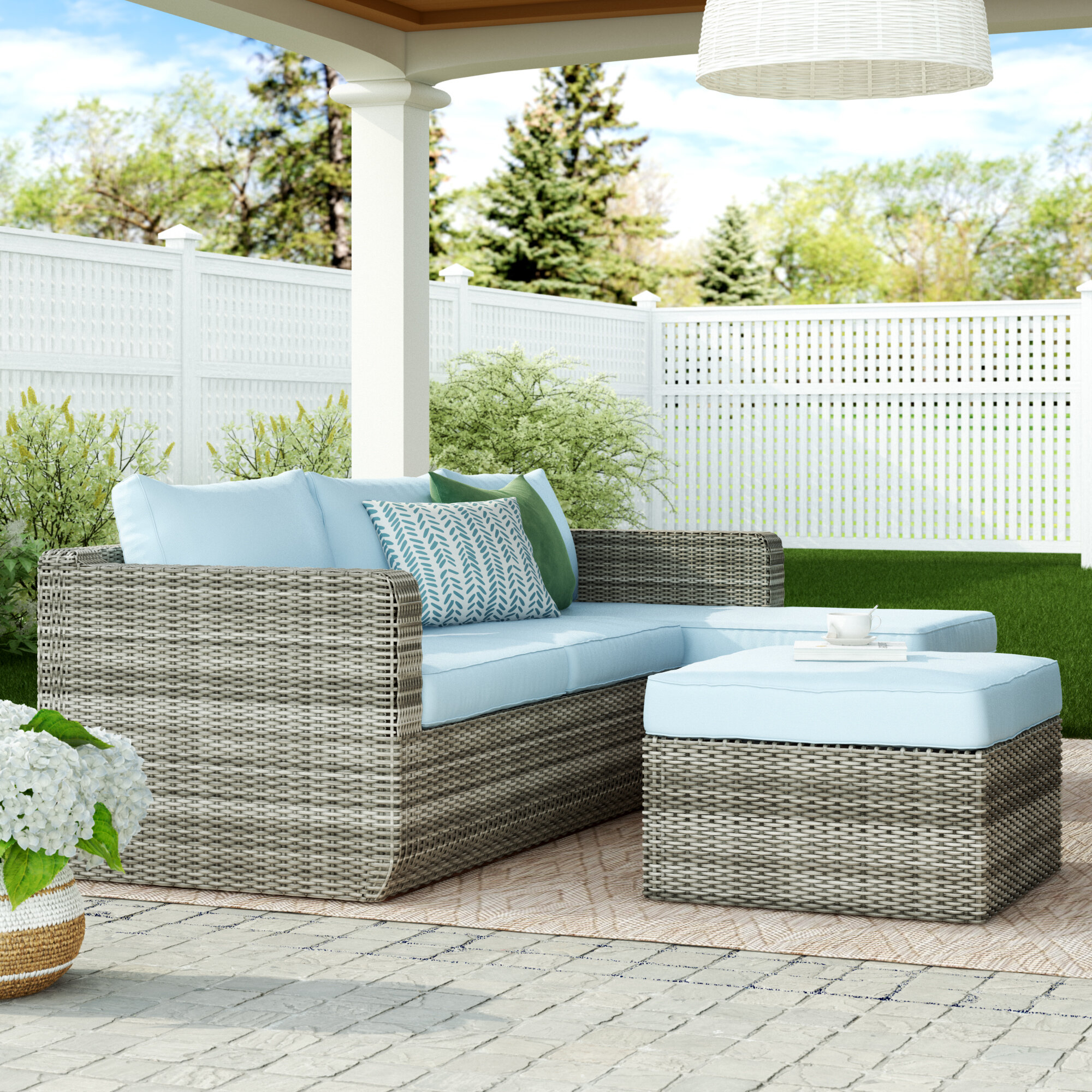 Outdoor Backyard Patio Garden Furniture Decor Glider Bench 2 In Outdoor Fabric Glider Benches (View 15 of 25)