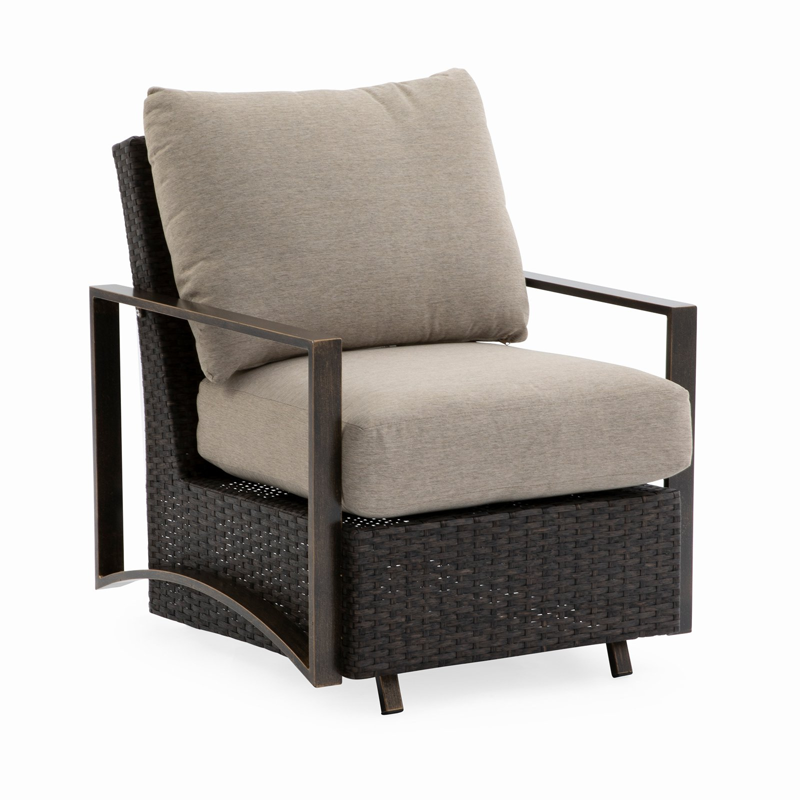 Outdoor Belham Living Santos Metal Deep Seating Glider Chair In Padded Sling Double Gliders (View 22 of 25)