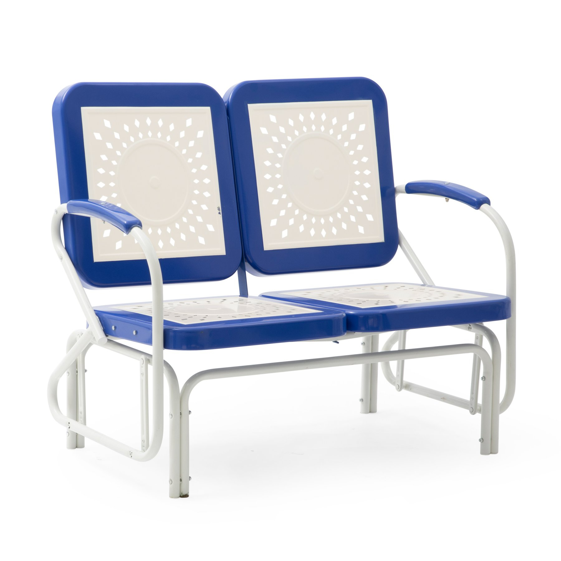 Outdoor Coral Coast Corby Aluminum Double Glider Patio Bench In Aluminum Outdoor Double Glider Benches (View 5 of 25)