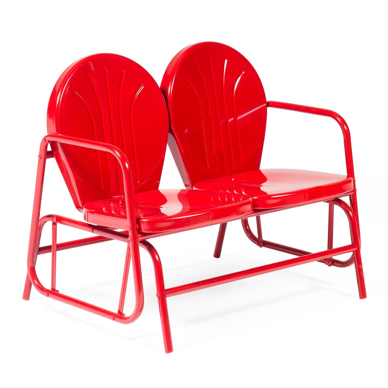 Featured Image of Outdoor Retro Metal Double Glider Benches