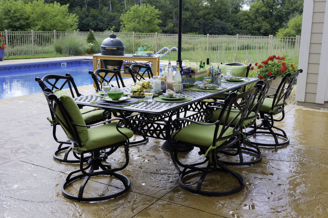 Outdoor Dining Space Requirements | Hom Furniture For Bistro Transitional 4 Seating Square Dining Tables (View 9 of 25)