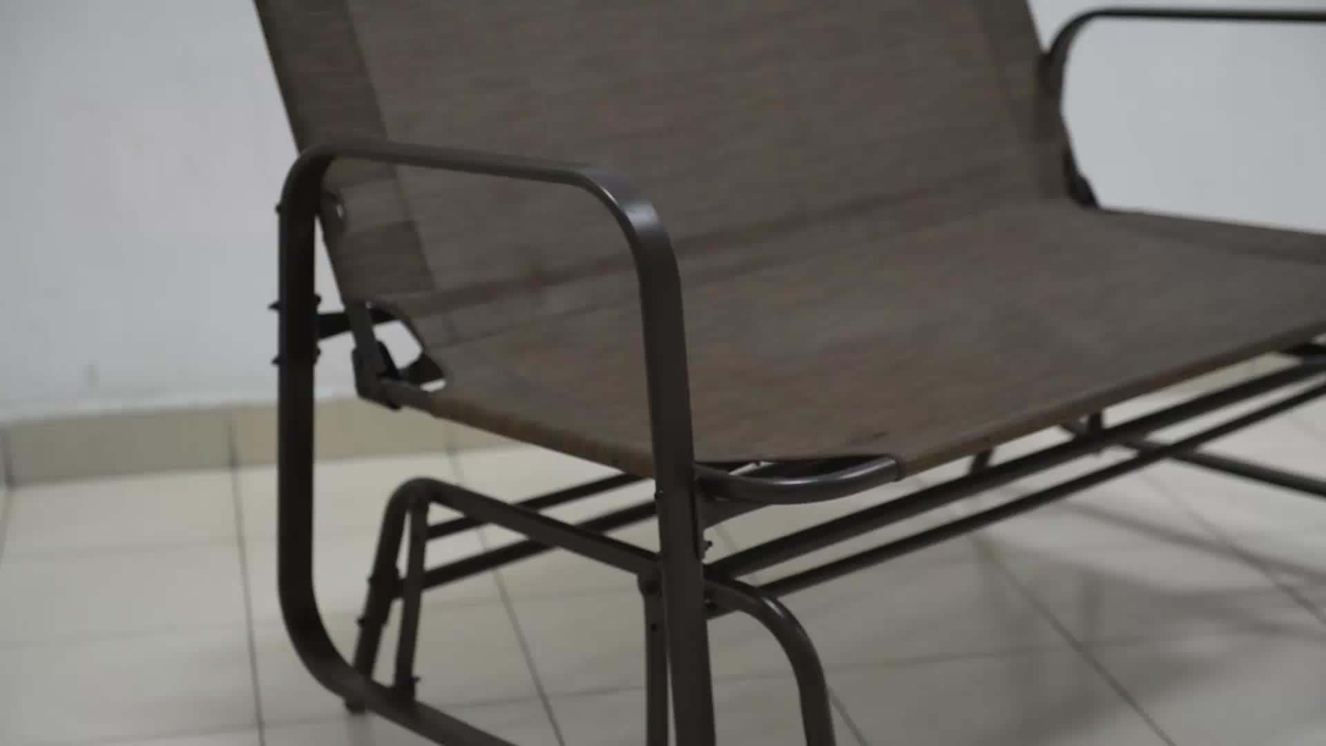 Outdoor Garden Steel Frame Patio Swing Glider Loveseat Bench Rocking Chair – Buy Outdoor Garden Bench,metal Garden Bench,glider Rocking Chair Product For Black Steel Patio Swing Glider Benches Powder Coated (View 20 of 25)