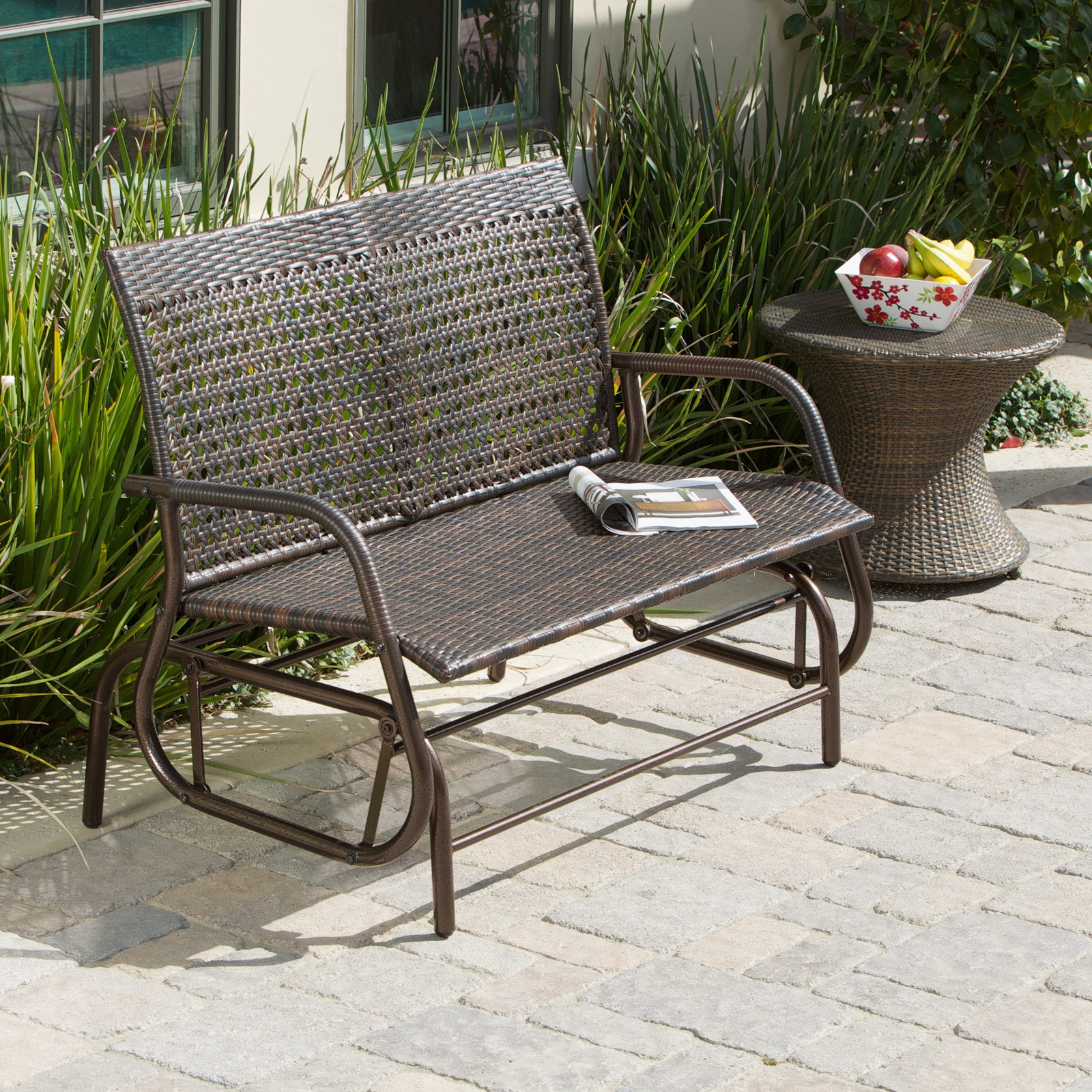 Outdoor Glider Bench Metal : Outdoor Decorations – What Is Pertaining To Outdoor Patio Swing Glider Benches (View 15 of 25)