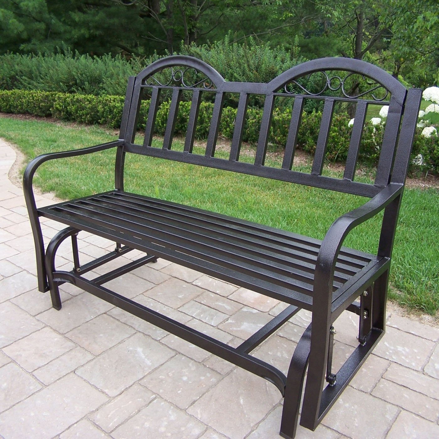 Outdoor Glider Bench Metal : Outdoor Decorations – What Is Regarding Twin Seat Glider Benches (View 13 of 25)